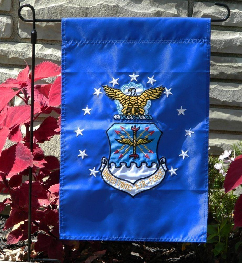 """United States Air Force 12"""" x 18"""" 12x18  Embroidered Garden"""