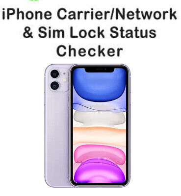 INSTANT iPhone iPad IMEI NETWORK CARRIER ICLOUD BLACKLIST CHECK SERVICE FAST
