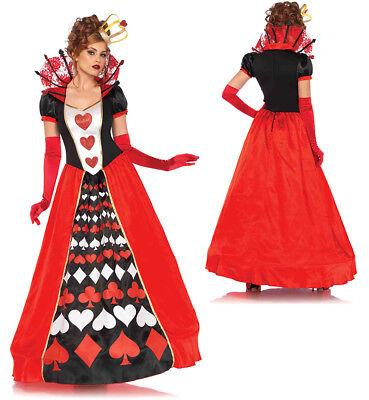 Womens Deluxe Queen of Hearts Halloween Costume - Queen Of Hearts Halloween Costume