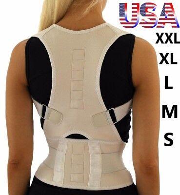 Magnets Back Pain - Posture Corrector Back Brace Shoulder Support Magnetic Wrap Pain Belt Men Women