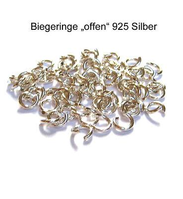 10 Biegeringe Ringe 3,3 mm 925 Silber Schmuckzubehör Schmuck basteln