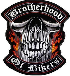 BROTHERHOOD OF BIKERS  AWESOME  GREAT  HIGH QUALITY  LARGE BIKER PATCH LRG-0434