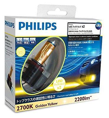 New PHILIPS LED Fog Bulve Yellow H8 H11 H16 X-treme Ultinon 2700K 12793UNIX2