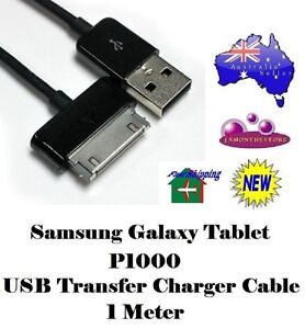 Samsung-Galaxy-Tablet-P1000-USB-Transfer-Charger-Cable-1-Meter-Black-Tab-30-Pin