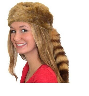 Coonskin Kappe Washbär Hut Davy Crockett Daniel Boone Pioneer Grenze Mann Kostüm