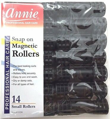 "BRAND NEW ANNIE #1234 14ct SMALL SNAP ON MAGNETIC ROLLERS 1/2"" DIAMETER"