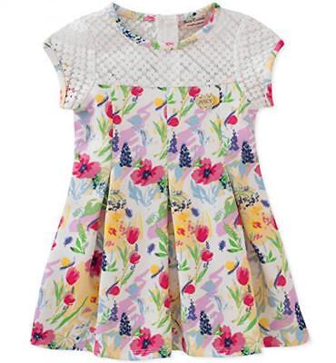 Juicy Couture Infant Girls White & Multi Color Floral Dress Size 12M 18M 24M - Infant Couture Dresses