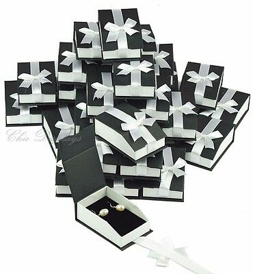 Pendant Jewelry Boxes For Earring Gift Boxes Black Boxes Drop Earring Boxes 36pc