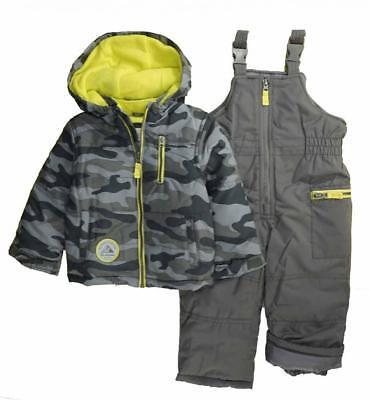 Carter's Boys Grey Camo Two-Piece Snowsuit Size 2T 3T 4T 4 5