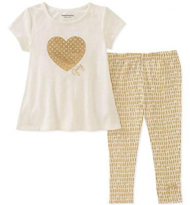 Juicy Couture Infant Girls Vanilla & Gold 2pc Legging Set Size 12M 18M 24M $60 - Vanilla Girl