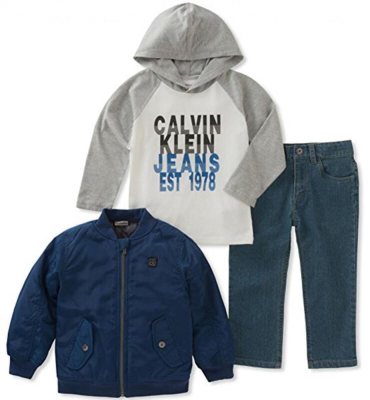 Calvin Klein Boys Blue Jacket 3pc Pant Set Size 2T 3T 4T 4 5 6 7