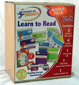 Hooked on Phonics LEARN TO READ K-2nd Kindergarten FREE US SHIPPING