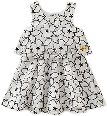 Juicy Couture Infant Girls White & Black Floral Dress Size 12M 18M 24M - Infant Couture Dresses