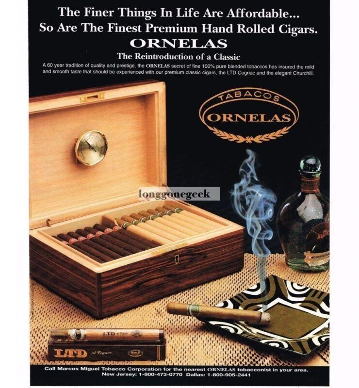 1997 Ornelas Cigars Vintage Ad