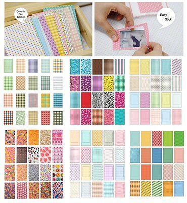 100PCS Retro Color Instant Films Sticker For FujiFilm Instax Mini 8 7s 25 50s