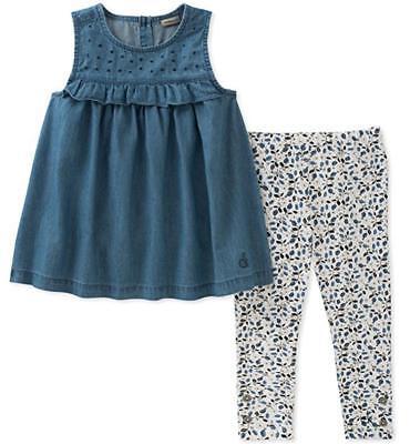 Calvin Klein Girls Chambray Tunic & Legging Set Size 2T 3T 4