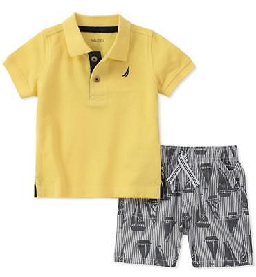 Nautica Boys Yellow Polo 2pc Short Set Size 2T 3T 4T 4 5 6 7
