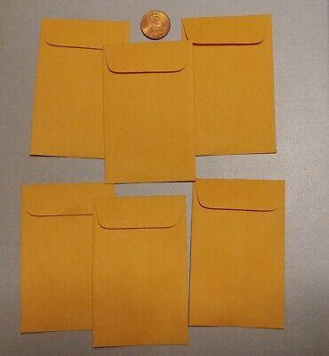 6 Tiny Manila 3.5 X 2.25 Envelopes - Really Small