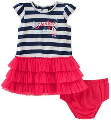 Nautica Infant Girls Striped Dress W/Panty Size 3/6M 6/9M 12M 18M 24M