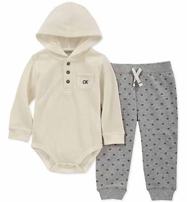 Calvin Klein Infant Boys Vanilla 2pc Pant Set Size 0/3M 3/6M