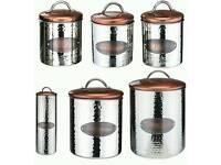5 piece copper kitchen set