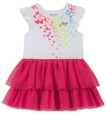 - Juicy Couture Toddler Girls White Heart Tutu Dress Size 2T 3T 4T $70