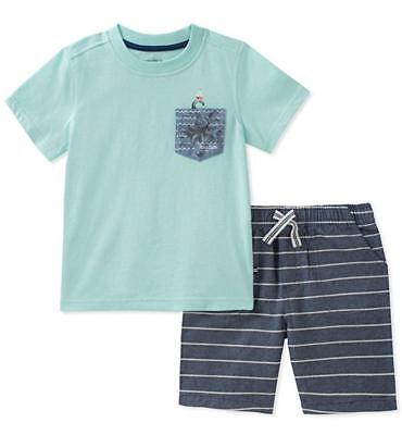 Nautica Boys Blue 2pc Short Set Size 2T 3T 4T 4 5 6 7