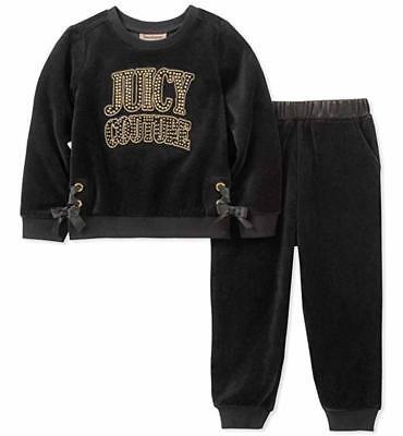 Juicy Couture Mädchen Schwarz Gold 2 Stück Jogging Set Größe 2T 3T 4T 4 5 6 6x 7 ()
