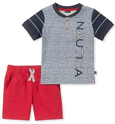 Nautica Toddler Boys Striped Henly 2pc Short Set Size 2T 3T 4T $59.50