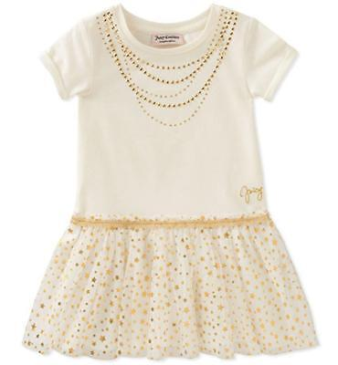 Juicy Couture Girls Vanilla & Gold Dress Size 2T 3T 4T 4 5 6 6X - Vanilla Girl