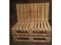 mini pallet seats plained smooth finish for inside or outside , perfect for garden , shops pr pubs