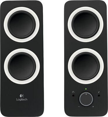 Logitech - Z200 2.0 Multimedia Speakers (2-Piece) - Black