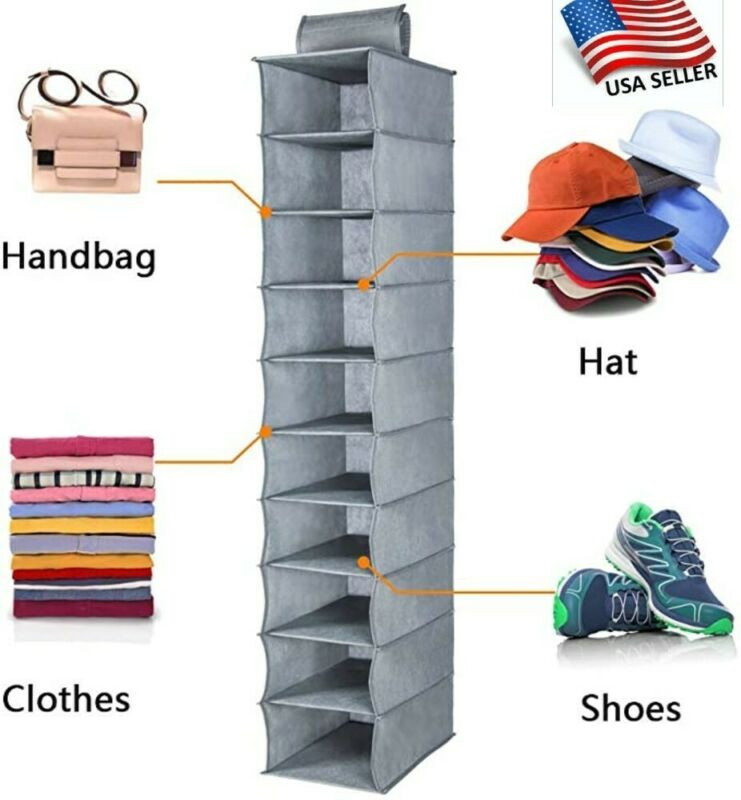 RTgenesis Hat Rack, Hat Organizer, or Cap Holder- Strong 10 Shelf Hanging Closet