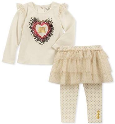 Juicy Couture Infant Girls Vanilla 2pc Skegging Set Size 3/6M 6/9M 12M 18M 24M - Vanilla Girl