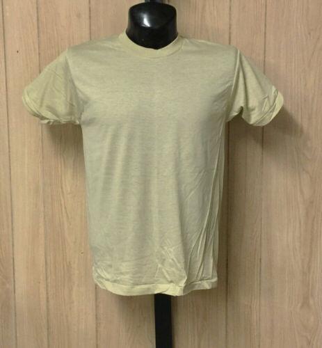 Vintage Screen Stars T-Shirt Blank Plain Deadstock Soft Thin Tan S-XL USA