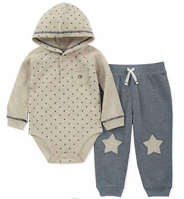 Calvin Klein Infant Boys Star Print 2pc Pant Set Size 0/3M 3