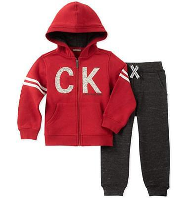 - Calvin Klein Infant Boys Red Hoodie 2pc Sweatsuit Size 12M 18M 24M $50