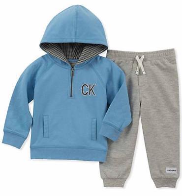 Calvin Klein Infant Boys Blue Hoodie 2pc Pant Set Size 3/6M
