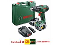 Bosch 18v Lithium-Ion Combi Drill 2x 2 ah Batteries + Charger PSB 1800 LI-2 BNIB