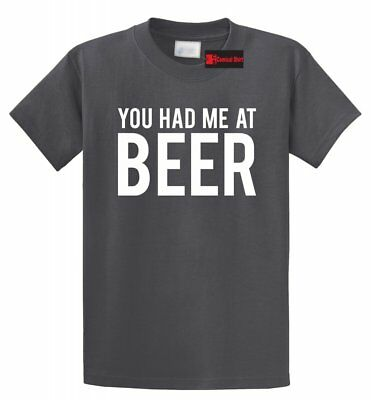 St Patty's Day Shirts (You Had Me At Beer T Shirt Funny Alcohol St Patty's Day Gift Tee)