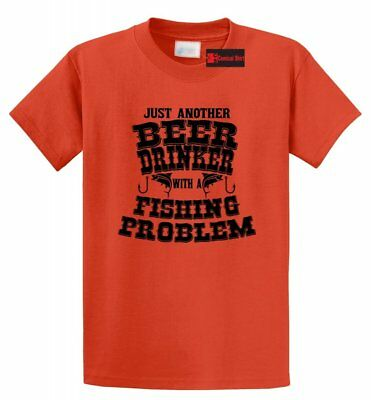 Beer Drinker Fishing Problem Funny T Shirt Country Redneck Party Graphic Tee