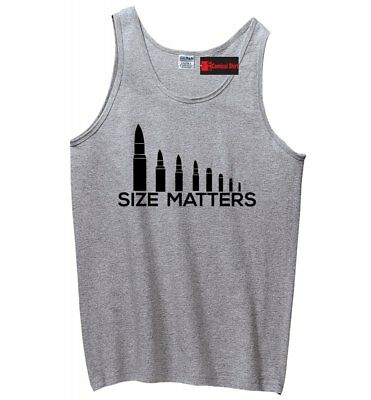 Size Matters Bullets Funny Mens Tank Top Hunting Gun Right Father Gift Tank Z3 (Funny Tanks Men)