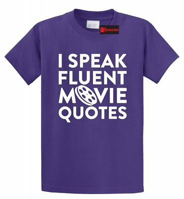 - I Speak Movie Quotes Funny T Shirt Movie Lover TV Show Nerd Gift Tee