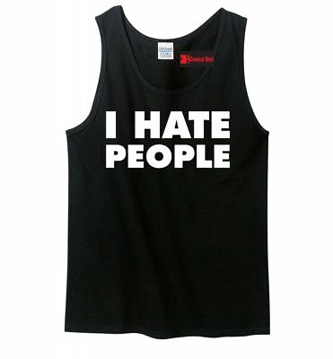 Mens Humor (I Hate People Funny Mens Tank Top Antisocial Adult Humor Holiday Gift Tank)