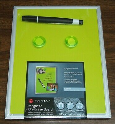 Green Foray Magnetic Officeschoolhome Dry-erase Board 8 12 X 11 Bin 18
