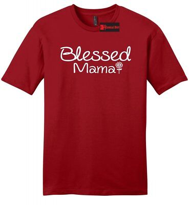 Blessed Mama Mens Soft T Shirt Mom Mothers Day Wife Gift Tee Shirt Z2 - Blessed Day