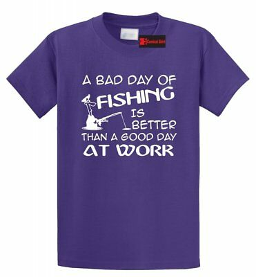 Bad Day Fishing Better Good Day Work Funny Fishing Shirt Father Dad Gift