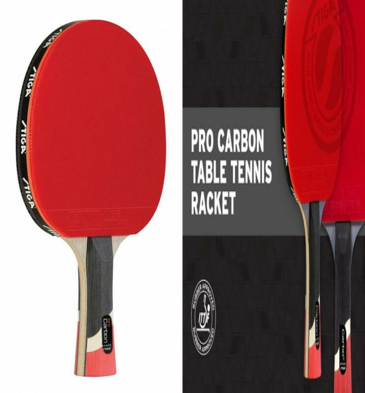 STIGA Pro Carbon Performance-Level Table Tennis Racket with multi