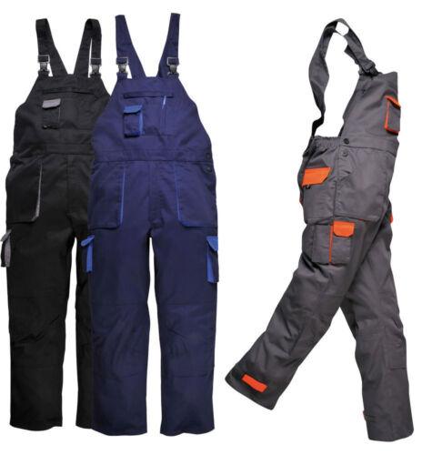 Bib and Brace Overalls Mens Work Wear Trousers Bib Pants Knee Pad Multi Pocket