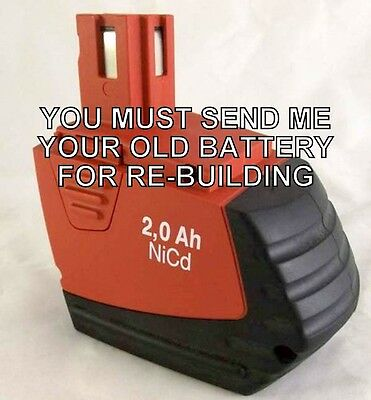 Rebuild Service For Hilti Sfb 150 Battery Item No. 00340890